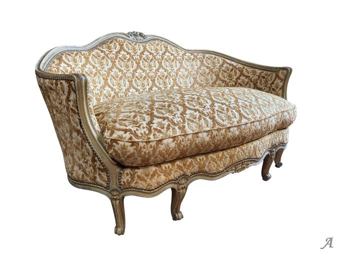 Canapé d'alcôve de style Louis XV - Rougé