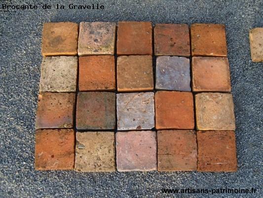 Tomettes ou carrelages anciens en terre cuite - La Brûlatte