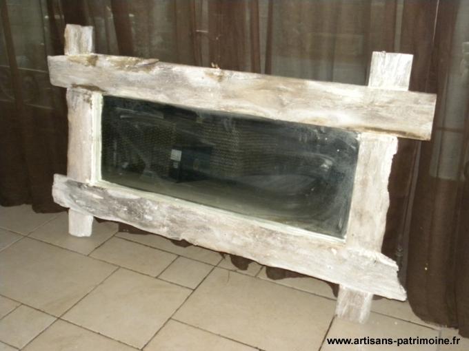Miroir en chêne ancien - Louvroil