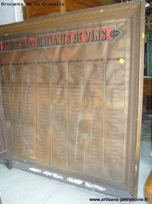 Cadre sur les vins fin XIXe siècle - La Brûlatte