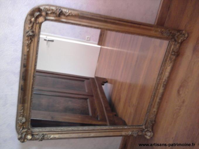 Miroir ancien doré à la feuille - Macon