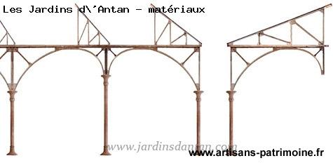 Grande galerie métallique en arcs rampants - 1