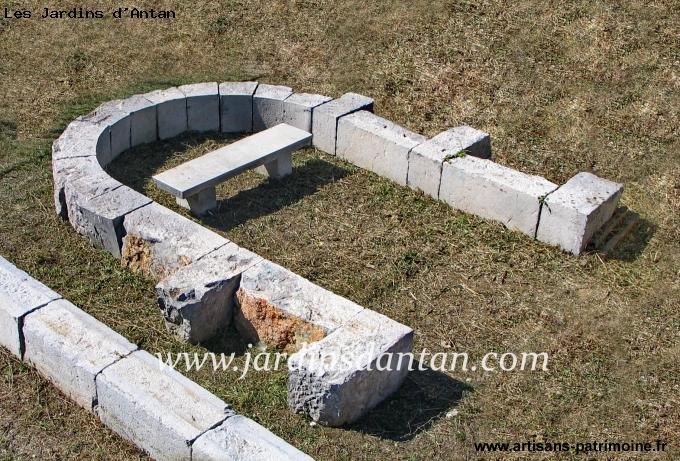 Arc de plein cintre en pierre froide - Lattes