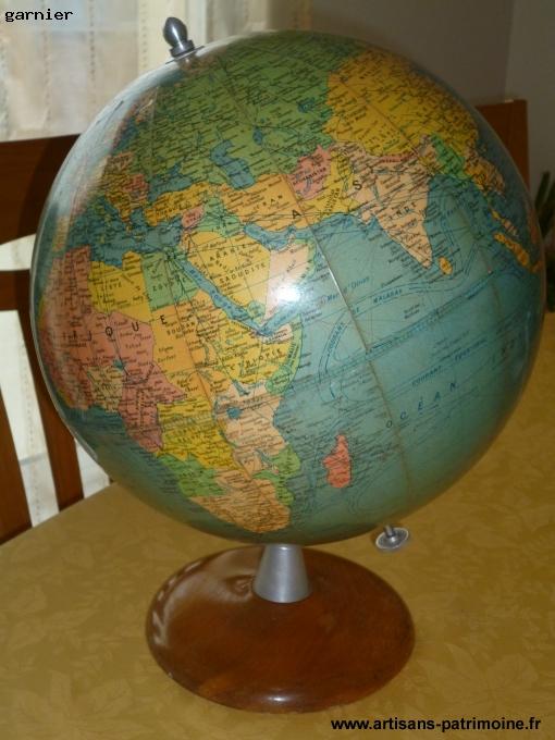 Globe Terrestre Girard, Barrière et Thomas de 1950 - Redon