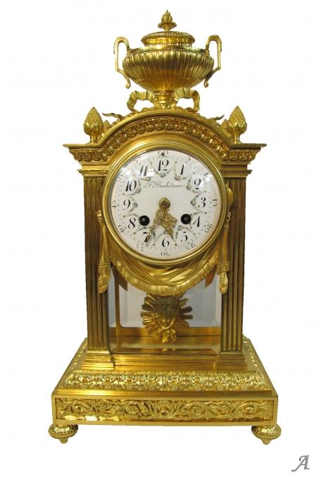 Horloge de style Louis XVI en bronze doré de la Maison F. Barbedienne - Marseille