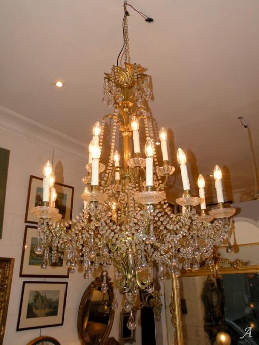 Lustre en cristal et bronze Baccarat - Nantes