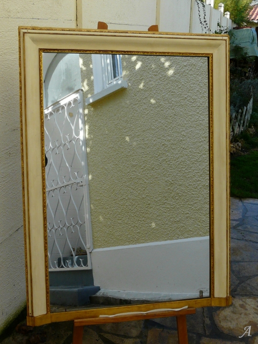 Miroir Louis Philippe au mercure - 1
