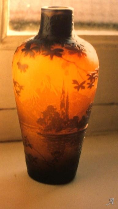 Vase pâte de verre Art Déco signé de Vez. - 1
