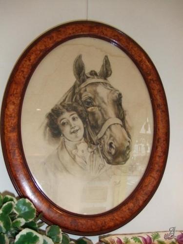 Jeune femme et son cheval - Paris