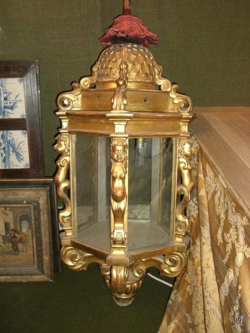 Lanterne en bois doré XIXe siècle d'Italie - Paris