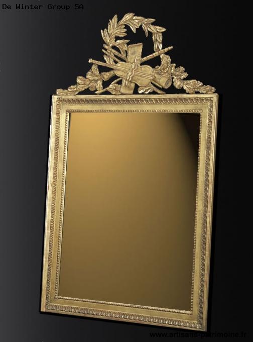 Miroir de style Louis XVI violon - Marin Epagnier