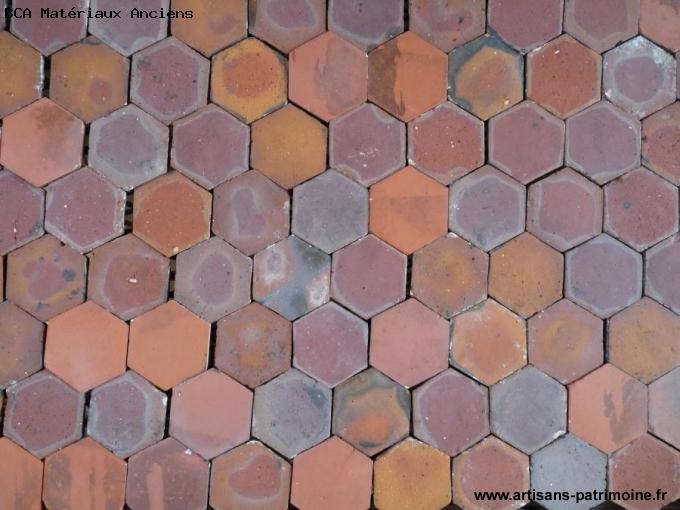 Lot de tomettes hexagonales - L'Hôtellerie de Flée