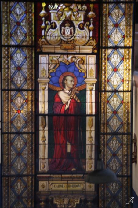 Vitrail de Saint Charles de Borromée - Verzeille