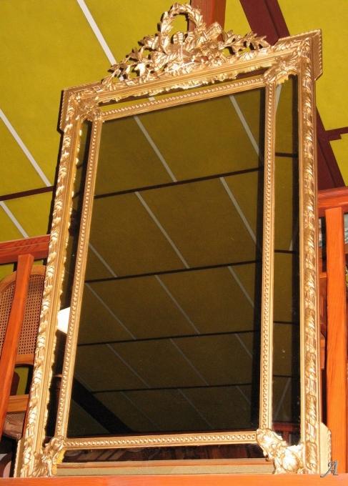 Miroir doré dans le goût Louis XIV - Heric