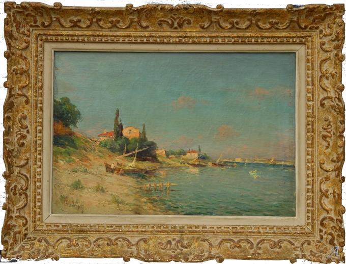 Barques aux Martigues de Charles Malfroy - Anet