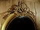 Miroir ovale doré du XIXe siècle Napoléon III - 5
