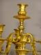 Paire de candélabres dorés - 5