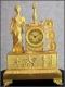 Pendule en bronze doré d'époque Empire - 2