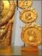 Pendule en bronze doré d'époque Empire - 5
