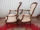 Paire de fauteuils cabriolet Louis Philippe en acajou massif - 2