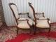 Paire de fauteuils cabriolet Louis Philippe en acajou massif - 3
