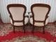 Paire de fauteuils cabriolet Louis Philippe en acajou massif - 4