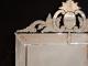 Miroir vénitien à décor floral et fronton de 1900 - 2