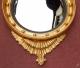 Miroir convexe à l'aigle en bois doré - 3