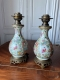 Paire de lampes en porcelaine de Canton Chine XIXe siècle - 2