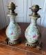 Paire de lampes en porcelaine de Canton Chine XIXe siècle - 3
