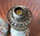 Paire de lampes en porcelaine de Canton Chine XIXe siècle - 4