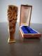 Sceau Art Nouveau en bronze doré signé Bauer Nancy - 3