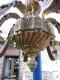 Lustre en bronze doré de style louis XVI avec appliques assorties - 2
