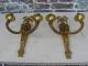 Lustre en bronze doré de style louis XVI avec appliques assorties - 4