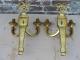 Lustre en bronze doré de style louis XVI avec appliques assorties - 5