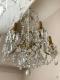 Lustre ancien en bronze doré et pampilles en cristal à 6 lumières - 2