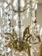 Lustre ancien en bronze doré et pampilles en cristal à 6 lumières - 4