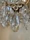 Lustre ancien à pampilles en cristal taillé, monture bronze 9 lumières XIXe - 2