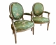 Paire de fauteuils cabriolet époque Louis XVI - 3