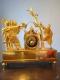 Pendule Empire en bronze doré - Le Serment des Horaces - 2