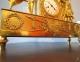 Pendule Empire en bronze doré - Le Serment des Horaces - 3