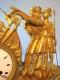 Pendule Empire en bronze doré - Le Serment des Horaces - 4