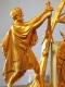 Pendule Empire en bronze doré - Le Serment des Horaces - 5
