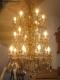 Lustre ancien à pampilles de cristal sur 3 niveaux 20 lumières - 2