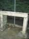 Cheminée ancienne en pierre calcaire du Poitou - 5