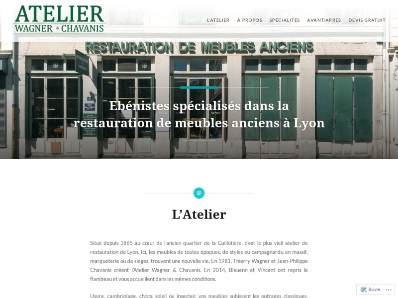 Atelier Wagner et Chavanis - Lyon 3e