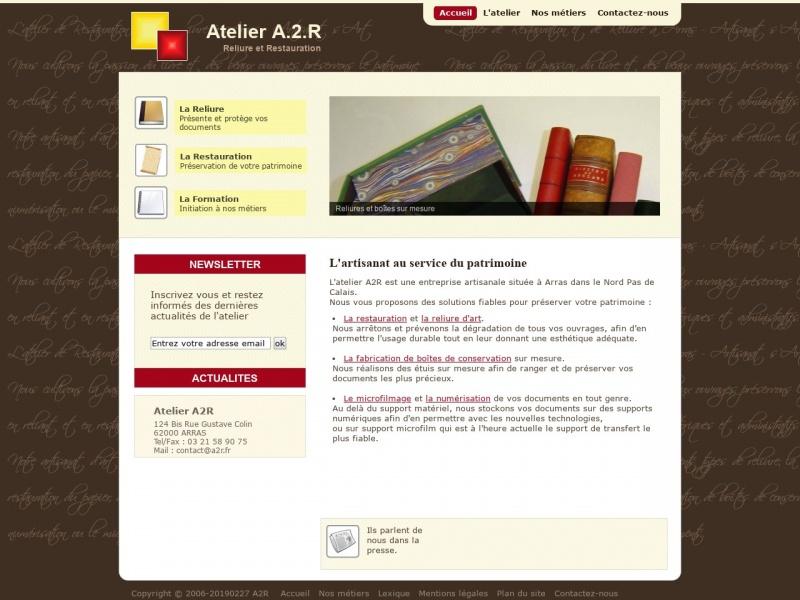 A2R - Atelier de Restauration et de Reliure - Arras