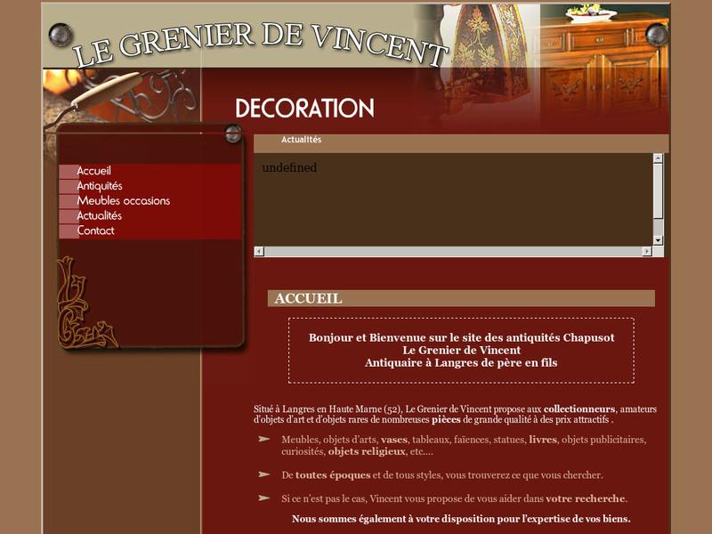 Antiquités Chapusot - Le Grenier de Vincent - Langres