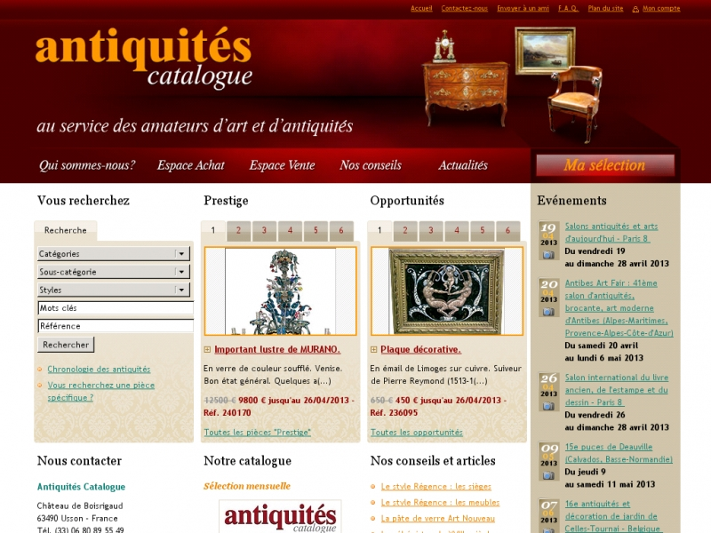 Antiquités Catalogue - www.antiquites-catalogue.com