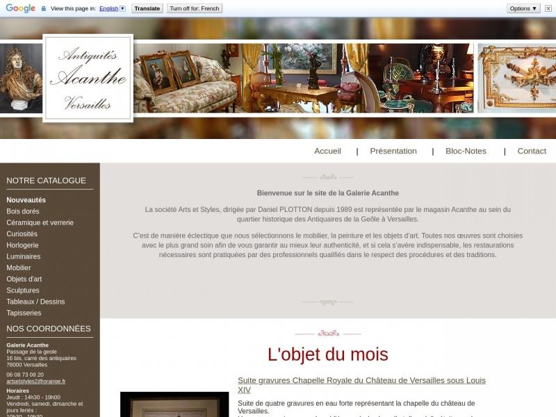 Acanthe - Versailles